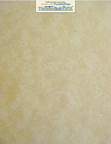 - 50 Old Age Parchment 65lb Cover Paper Sheets 8 X 10 Inches Cardstock Weight Colored Sheets 8