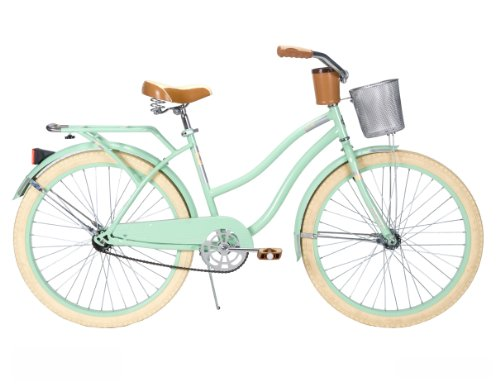 Huffy Women's Deluxe Cruiser Bike, Mint Green, 26 Inch/Medium