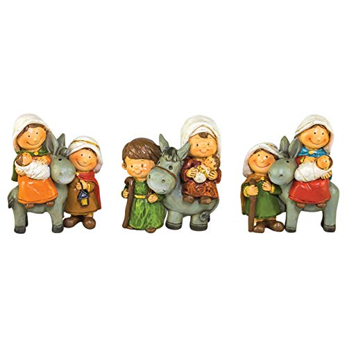 Hanna's Handiworks Blessed Holy Family 2.5 x 3 Inch Decorative Christmas Figurines Assorted Set of 3