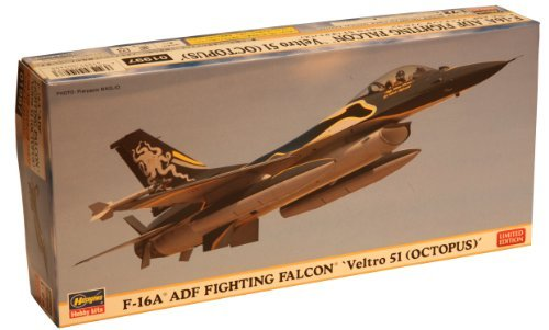 Hasegawa 1/72 F-16A ADF Fighting Falcon Veltro 51 Limited Edition Airplane Model Kit - F-16a Fighting Falcon