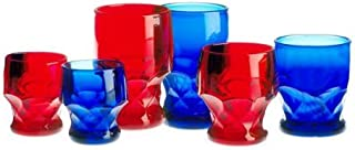 product image for Mosser Glass Georgian Tumblers Set of 4 in Cobalt - 6 Ounces
