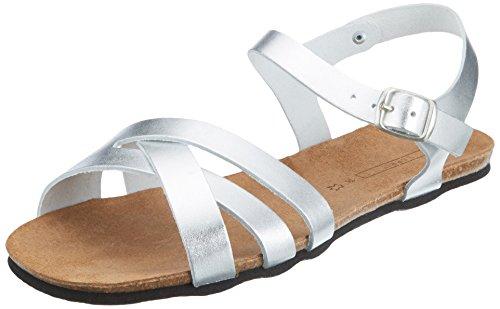 ESPRIT Women's Kendra Cc Sandl Ankle Strap Sandals Grey (Silver)