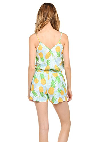 112b9370d4c8 Amazon.com  Women s Cute Summer Rompers - Patterned Flamingo Cactus  Watermelon Pineapple Romper Dresses  Clothing