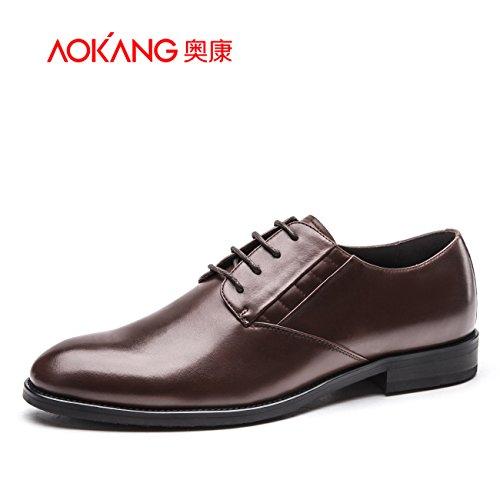 Aemember scarpe da uomo e scarpe comode bassa per aiutare i giovani uomini scarpe scarpe Ufficio ,40, marrone