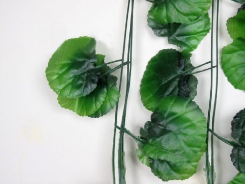 HotEnergy Lot of 10 pcs Artificial Green Garden Plant Leaves Vine Home Party Decor 7.87Ft