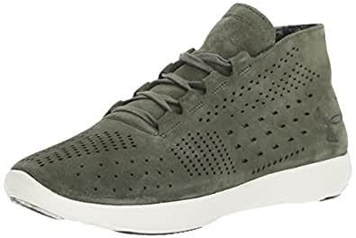 Under Armour Women's Street Precision Mid Lux, Downtown Green (330)/Ivory, 5.5