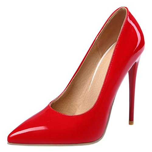 Colors Zanpa Mujer Tacon Red Zapatos 12cm Formal 9 heel wPHqBPTXr