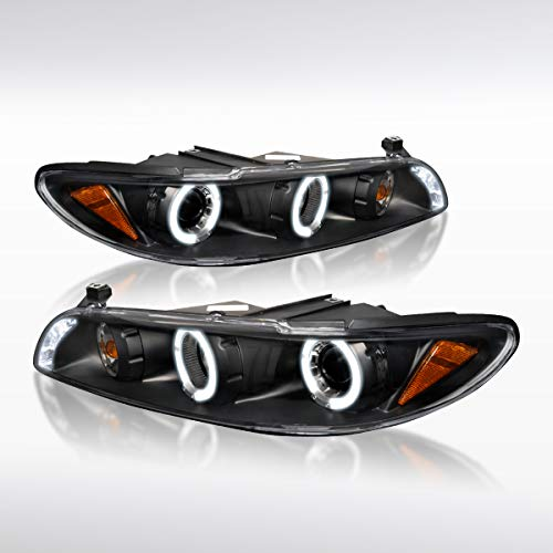 Autozensation For Pontiac Grand Prix [Black Clear] LED Halo Projector Headlights ()