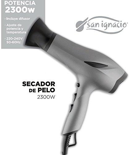 San Ignacio, Secador de pelo Profesional con difusor, 2 velocidades, botón de aire frío, 2300 W: Amazon.es: Hogar