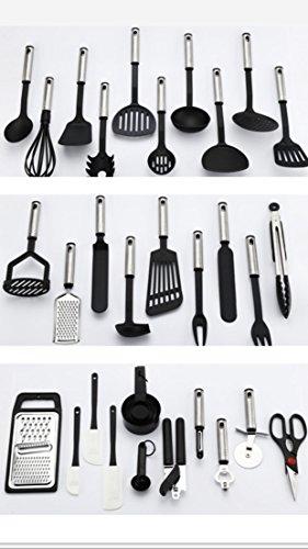 38-Piece Kitchen Utensil Set (Stainless Steel & Nylon Tools)