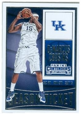 DeMarcus Cousins basketball card (University of Kentucky Wildcats JC) 2015 Contenders Season Ticket #25