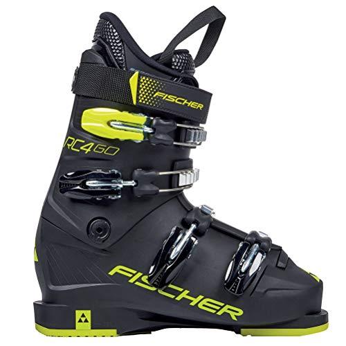 Fischer RC4 60 Jr. Thermoshape Junior Race Ski Boots 2020-23.5/Black-Yellow