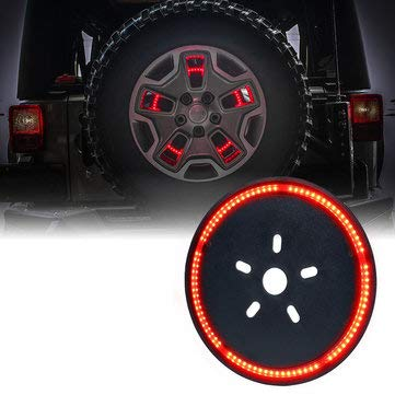 DC 12V Rear Spare Wheel Tire Red LED Brake Lights for JK 2007-2017 - Tail Light Assemblies Brake Lights - 1 X LED Spare Tire Brake Light -