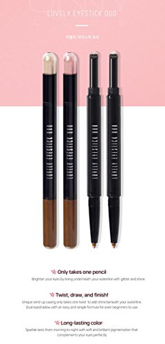 Under Eye Stick with Shadow Liner Pencil and Shimmer Eyeshadow for Brighter & Bigger Eyes in Twinkle Beige No.2