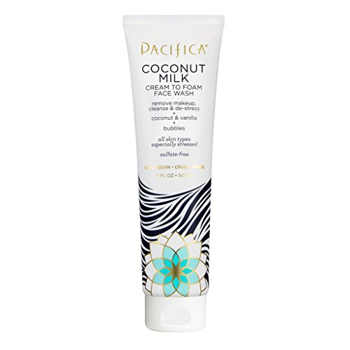 Pacifica Beauty Coconut Milk Cream to Foam Face Wash, 5 Fluid Ounce