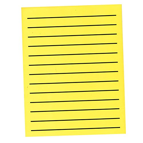 Bold Line Paper Pad in Neon Yellow with Black Lines - 90 Sheets by MaxiAids