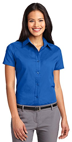 Port Authority Womens Short Sleeve Easy Care Shirt L508 -Strong Blue L from Port Authority