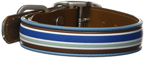 All Style 12-1/2-Inch by 17-Inch No Stink Dog Collar, Medium, Tahitian Sky