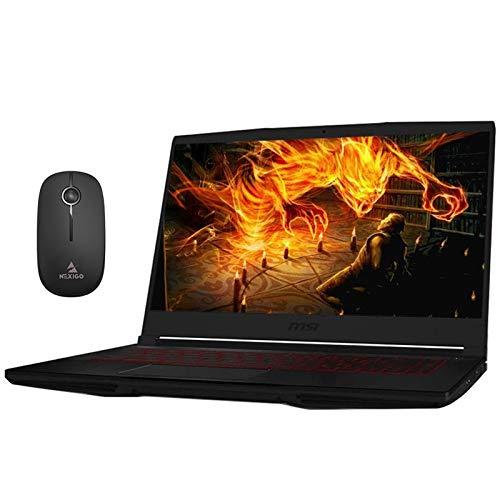 2020 MSI GF63 15.6 Inch FHD 1080P Gaming Laptop, Intel Core i5-9300H up to 4.1GHz, GTX 1050 Ti 4GB, 32GB RAM, 4TB PCIE SSD (Boot) + 1TB HDD, Backlit KB, Win10 + NexiGo Wireless Mouse Bundle