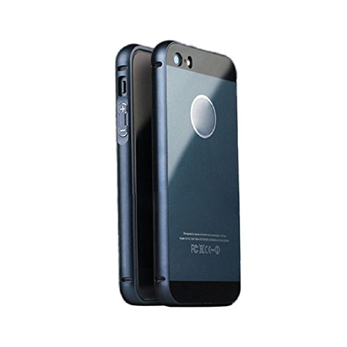 Bestpriceam® Luxury Aluminum Metal Frame&acrylic Back Case Cover for Iphone 5s /5 (Black)