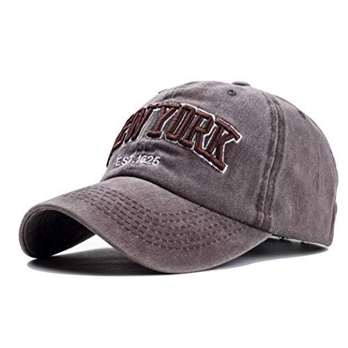 Baseball Hat -York Distressed-Adjustable-Strapback - Washed Cotton Dad Hat Unisex
