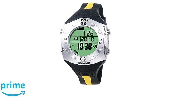 Pyle Montre de plongée avancé Reloj Digital Deportivo, Unisex, Negro/Amarillo: Amazon.es: Deportes y aire libre