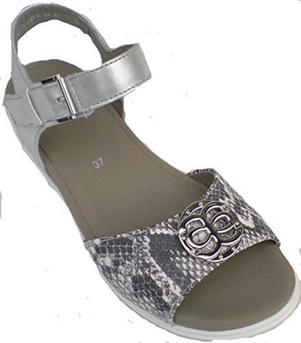 Ara 12-35914 Venice-Sand mujer Sandalia ancho G gris/plata