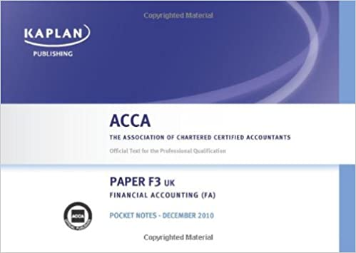 Buy F3 Financial Accounting FA (UK): Pocket Notes (Acca