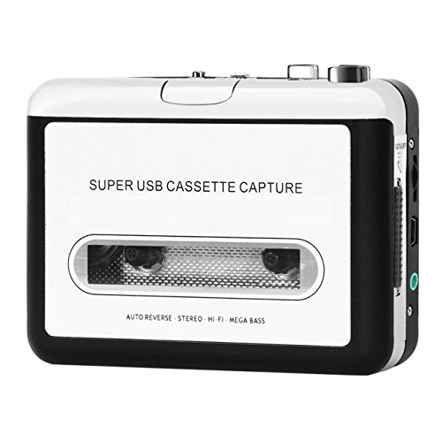Cassette to MP3 Converter, Easy-Link Cassette Player Audio Tape Recorder Cassette Digital Converter Music Player - Convert Audio Tapes to MP3 CD iPod PC / Analog Audio to Digital (Analog Compact)