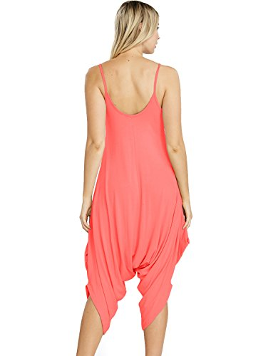 Spaghetti Strap in Made Womens USA Ruched WARE LTCoral TAM Jumpsuit fqExSS