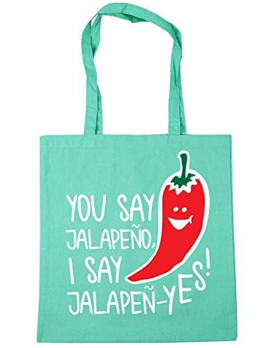 Shopping say Beach Bag 42cm I jalapeno say x38cm yes HippoWarehouse 10 jalapen litres Gym Mint Tote You qwv8TI