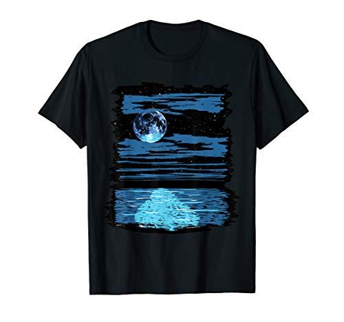 Full Moon Over The Water T-Shirt Harvest Shore Lunar Gift