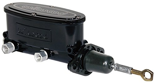 NEW WILWOOD BLACK ALUMINUM TANDEM CHAMBER MASTER CYLINDER FOR 64-73 FORD MUSTANG, DUAL OUTLET, 1964, 1965, 1966, 1967, 1968, 1969, 1970, 1971, 1972, 1973