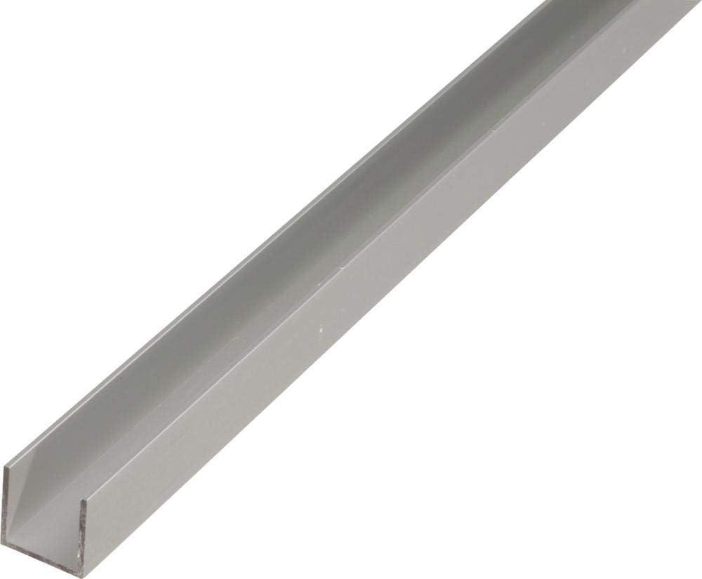 GAH-Alberts 473891 U-Profil 1000 x 22 x 10 mm Aluminium silberfarbig eloxiert