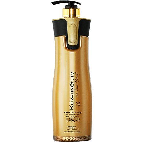Gold & Honey V2 Creme CREAMY VERSION 2 V2 Brazilian Hair Straightening 960 ml / 32.5 fl oz by Keratin Cure