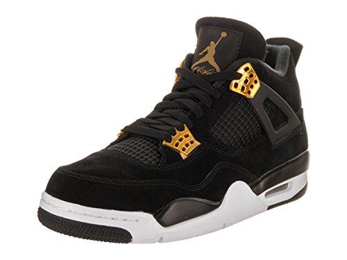 Air Jordan 14 Retro Sneakers (Jordan Men Air Jordan 4 Retro (black/metallic gold-white) Size 14.0 US)