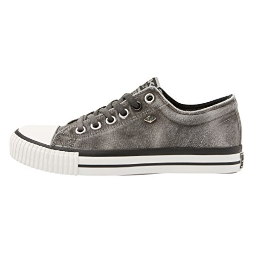 British Knights Women's Master Lo Low-Top Sneakers, LT Grey Rose Gold Black