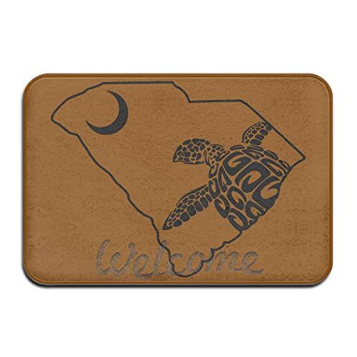 (HAIGORO Exotic Loggerhead Sea Turtle Palmetto State South Carolina Super Absorbent Anti-Slip Mat Decor Rug Doormat 23.6(L) X15.7(W) Inch Floor Mats,Psychedelic Non-Toxic Customization)