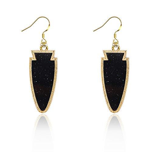 HOUBL European and American big personality earrings kendra SCOTT Acrylic fluorescent earrings tapered arrow earrings,black