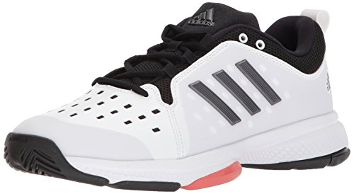 Adidas Barricade Shoes Tennis (adidas Performance Men's Barricade Classic Bounce Tennis Shoe, White/Night Metallic/Trace Scarlet, 8.5 M US)