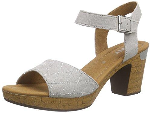 Jenny Riccione - Sandalias de tobillo Mujer Gris - Grau (kiesel 08)