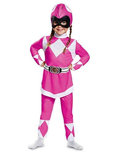 Disguise Pink Ranger Toddler Classic Child Costume, Pink, Medium/(3T-4T) ()