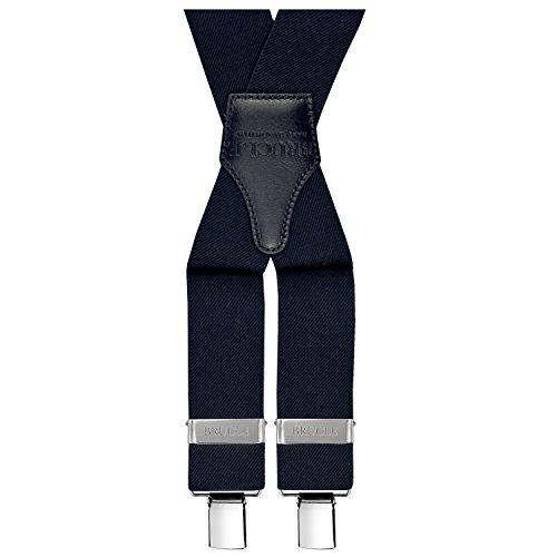 Homme 4 Italie En Larges Bretelles Pinces Avec Main Bleu Brucle Fait Navy Régables IEaUqwEzn