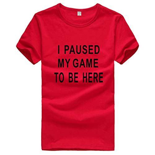 T-Shirt for Men, Moholl Don't Flatter Yourself I Only Look Up to You Because I Am Short Casual Funny Novelty Tee Tops