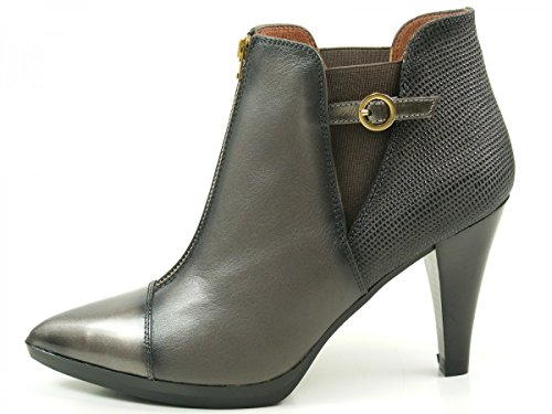 Hispanitas Eiffel HI63637 Botines de cuero para mujer Ankle Boots Grau