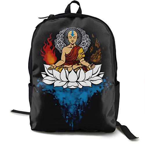 Lemonationop Cool Teenager Avatar The Last Legend Airbender Of Korra Aang Unisex Backpack Black One Size