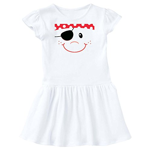 inktastic - Funny Pirate Face Costume Idea Toddler Dress 2T White 15c7f -