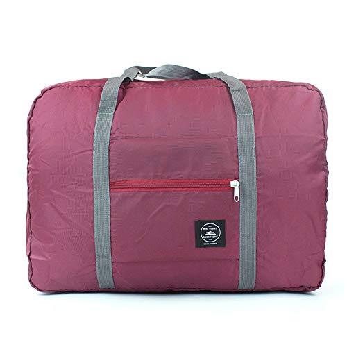 - H&N Fashion Trip Organized Zipper Waterproof Tote Handbag Travel Bag with High Capacity Foldable Storage Duffle Bag Wine