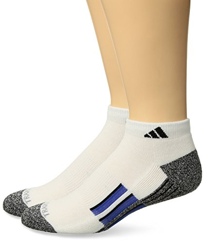 adidas Mens Climalite X II Low Cut Socks (2-Pack), Blue/Black, Size 6-12