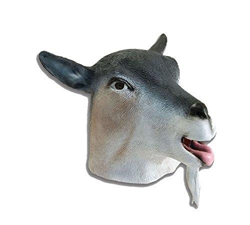 Goat Mask Costume Fun Zoo Farm Prop Novelty Head Animal